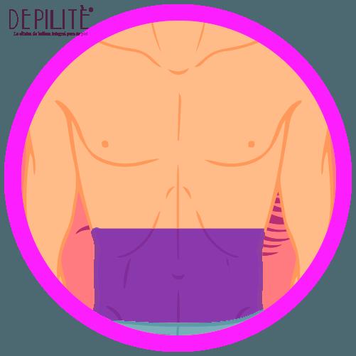 depilación láser en abdomen inferior hombre