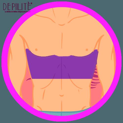 depilación láser en abdomen superior hombre