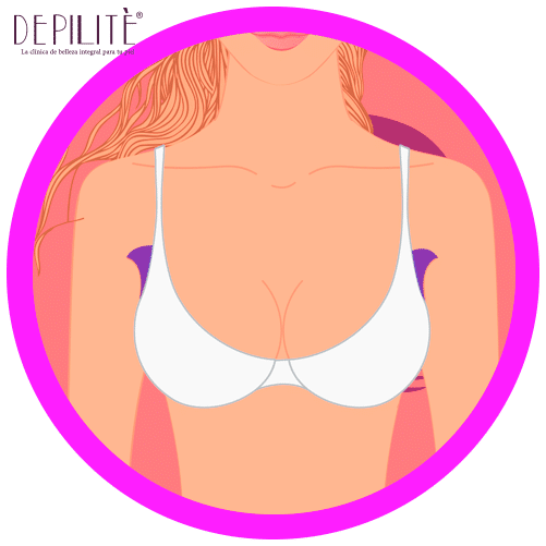 depilación láser en axilas mujer