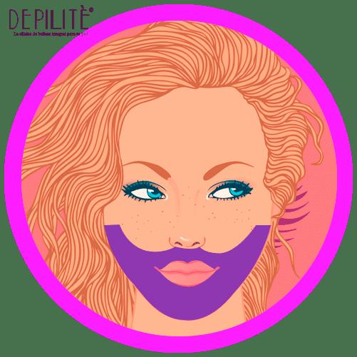 depilación láser en barba mujer