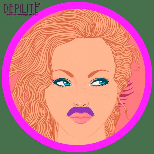 depilación láser en bigote mujer