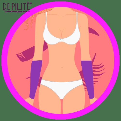 depilación láser en brazo inferior mujer