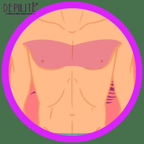 depilación láser en busto hombre