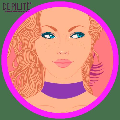 depilación láser en cuello inferior mujer