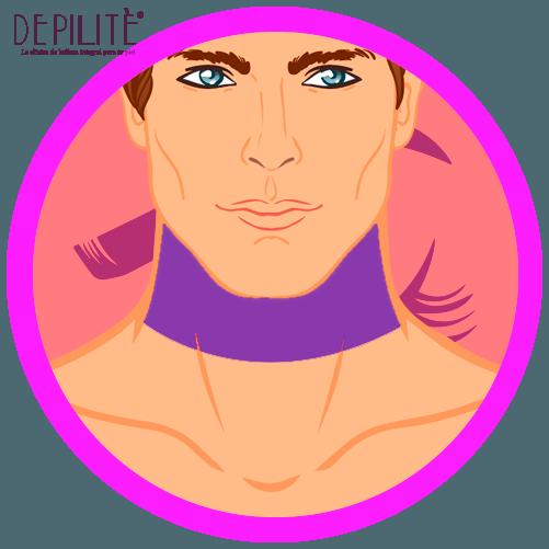 depilación láser en cuello superior hombre