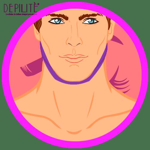 depilación láser en delineado hombre