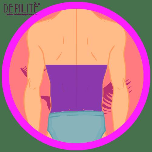depilación láser en espalda inferior hombre