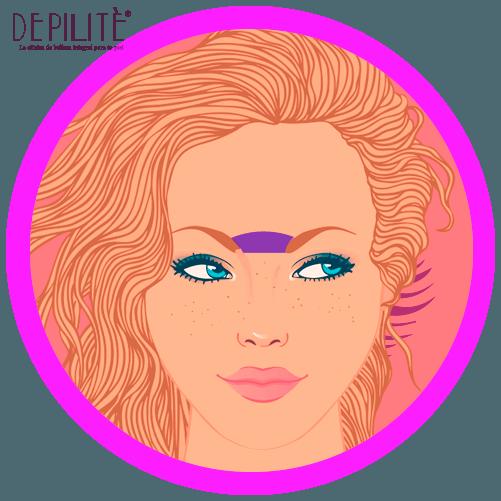 depilación láser en entreceja mujer