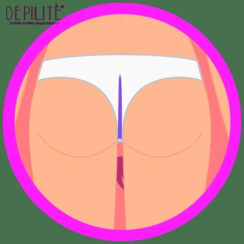 depilación láser en intergluteo mujer