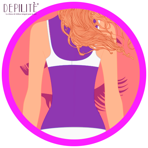 depilación láser en espalda completa mujer