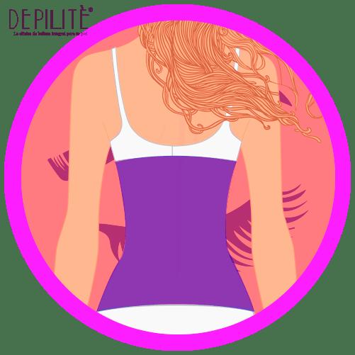 depilación láser en espalda superior mujer