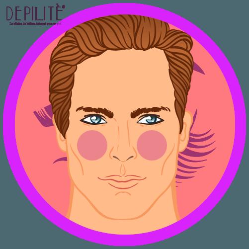 depilación láser en mejillas hombre