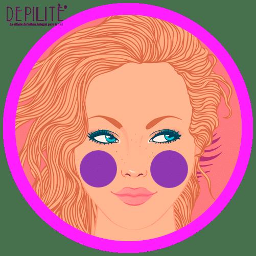 depilación láser en mejillas mujer