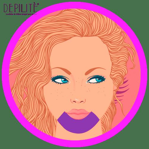 depilación láser en mentón mujer