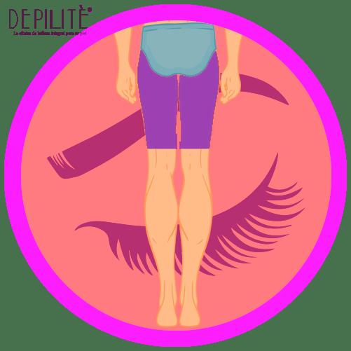 depilación láser en muslos atrás hombre