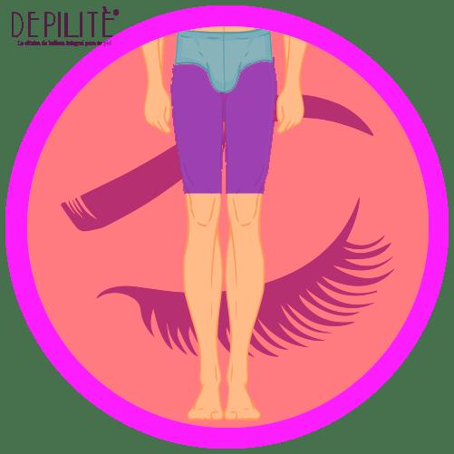 depilación láser en muslos completos hombre