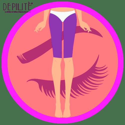 depilación láser en muslos frente mujer