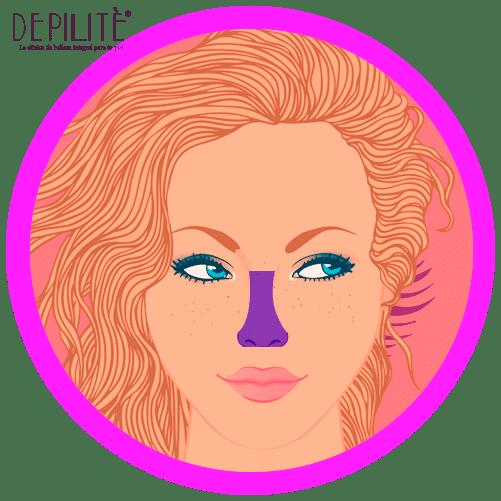 depilación láser en nariz mujer