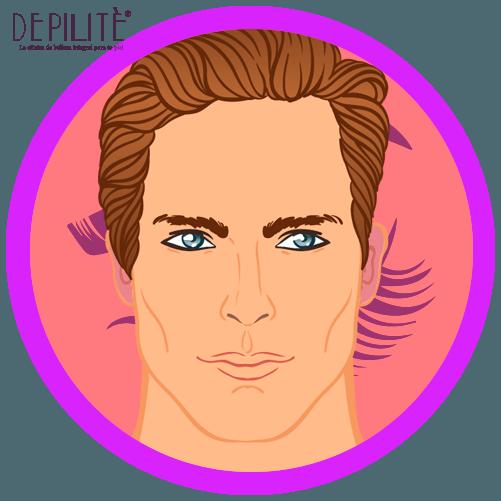 depilación láser en orejas hombre