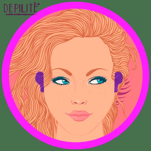 depilación láser en orejas mujer