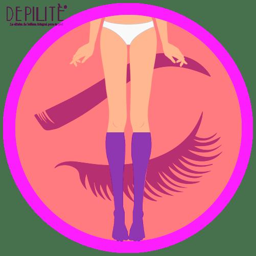 depilación láser en media pierna mujer