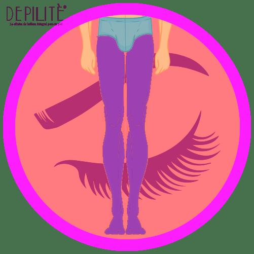 depilación láser en piernas completas hombre
