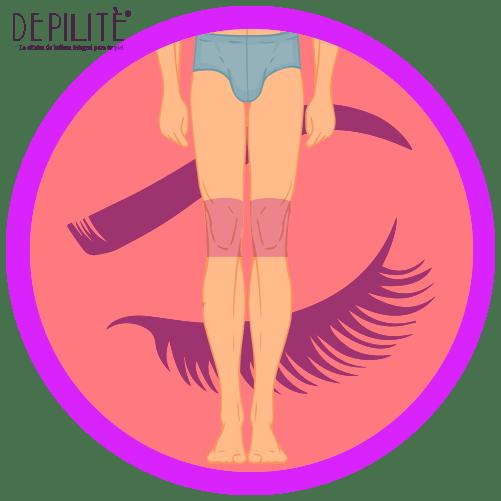 depilación láser en rodillas hombre