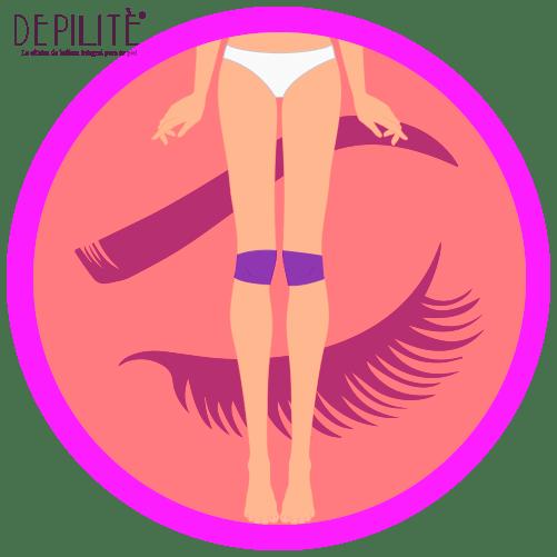 depilación láser en rodillas mujer